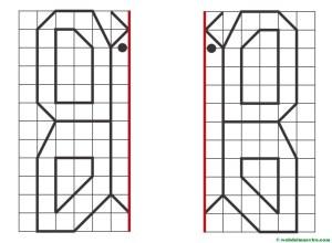 dibujo simétrico dividido por la mitad