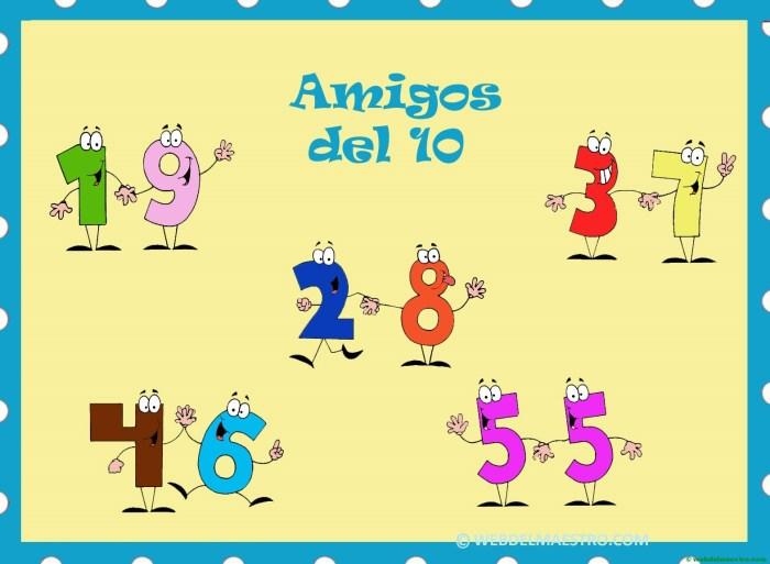 Amigos del 10-cartel color