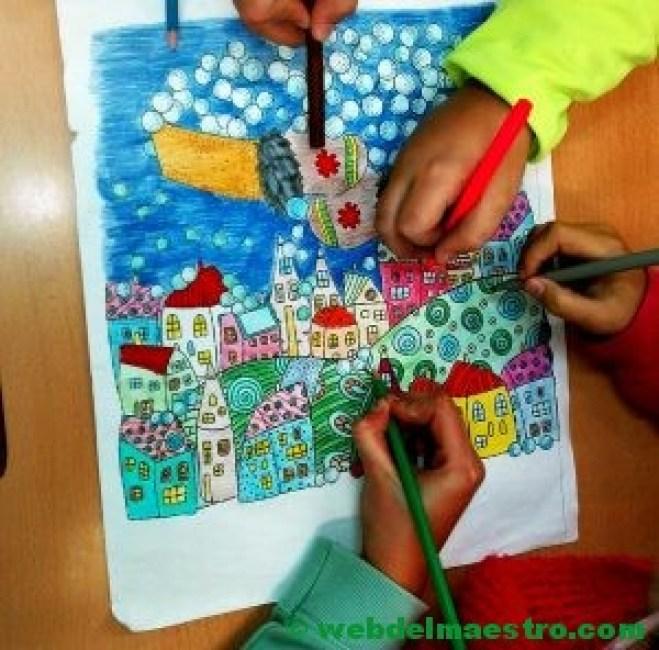 Dibujos de navidad para colorear e imprimir grandes