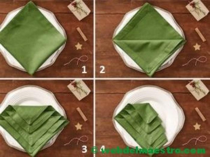 cómo doblar la servilleta paso a paso