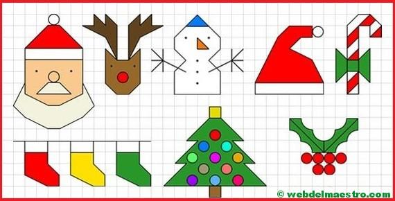 Fichas De Dibujos De Navidad.Dibujos De Navidad En Cuadricula Web Del Maestro