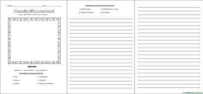 Descripción de una persona-esquema y actividades