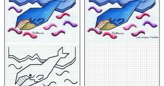 Dibujos en cuadrícula de animales