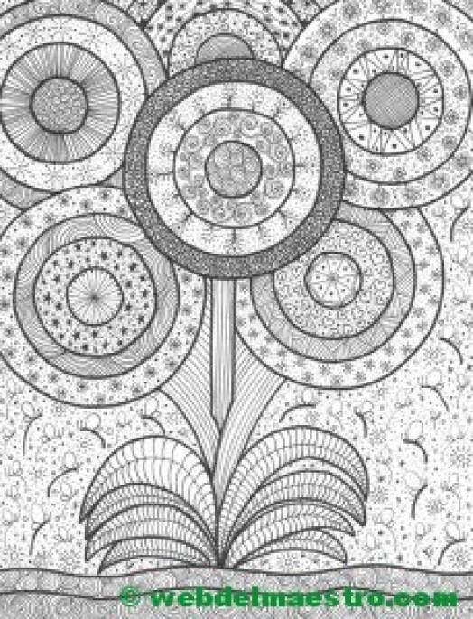 Dibujo nº 15-Planta con flores