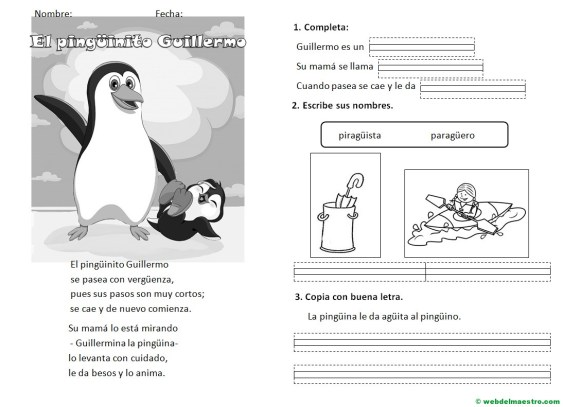 Lecturas infantiles- sonidos GÜE, GÜI-Actividdades