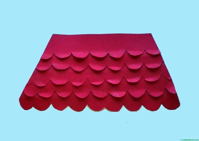Paso 2-terminación del tejado
