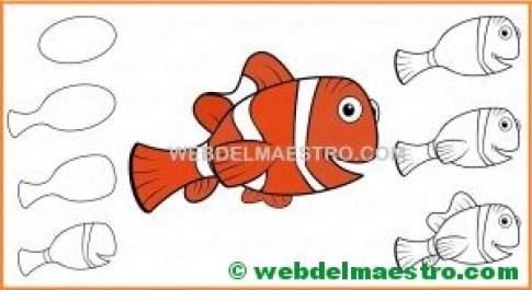 Como dibujar a Nemo-