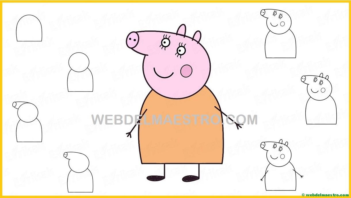 Aprender A Dibujar A Mamá Cerdita De Peppa Pig Web Del Maestro