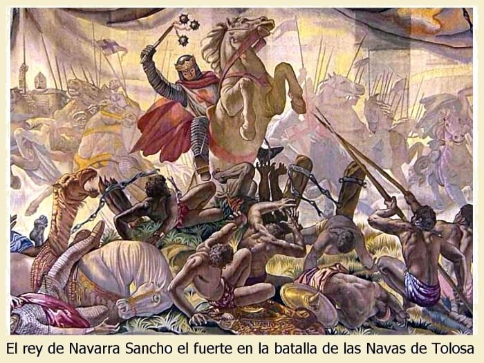 El rey de Navarra Sancho el Fuerte en la batalla de las Navas de Tolosa