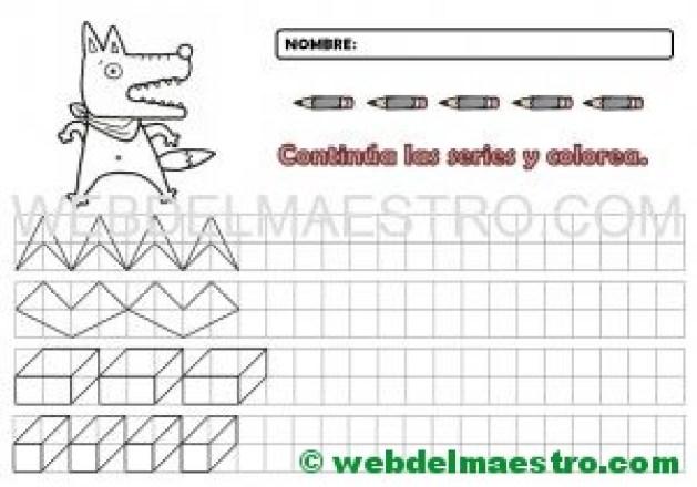 Grafomotricidad-Cenefas en cuadrícula para imprimir-9