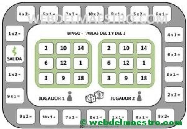 juegos de matematicas-tablas del 1 y del 2