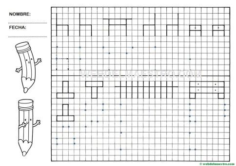 Grafomotricidad-Trazos en cuadricula-Ficha nº 5