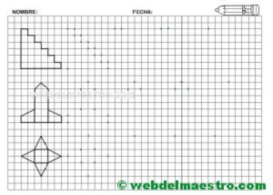 Grafomotricidad-Trazos en cuadricula-Ficha nº 6