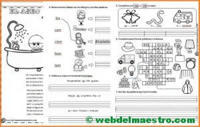 Lectoescritura para imprimir-M antes de P y B