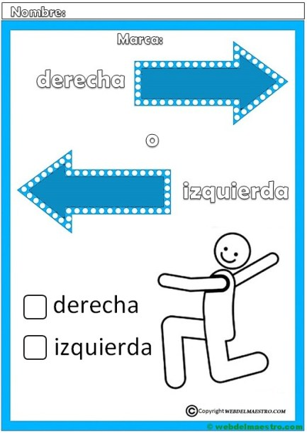 Izquierda y derecha-Actividades