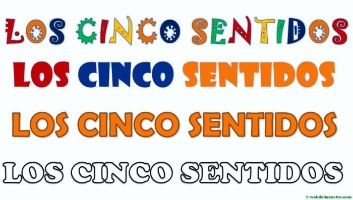 Rótulos- los 5 sentidos