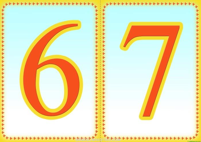 Números 6-7