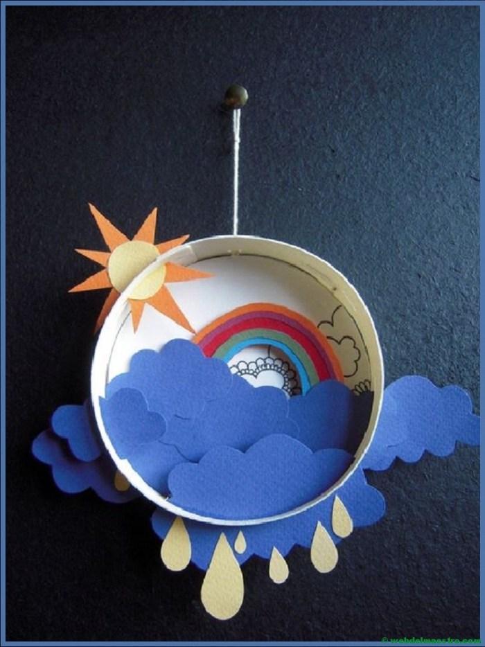 Diorama para niños-el tiempo atmósférico