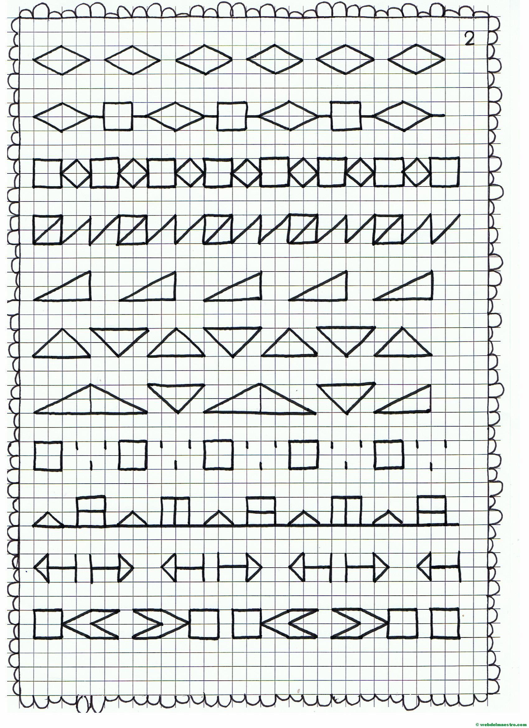 Cenefas Dibujos En Cuadrícula Para Imprimir Web Del Maestro