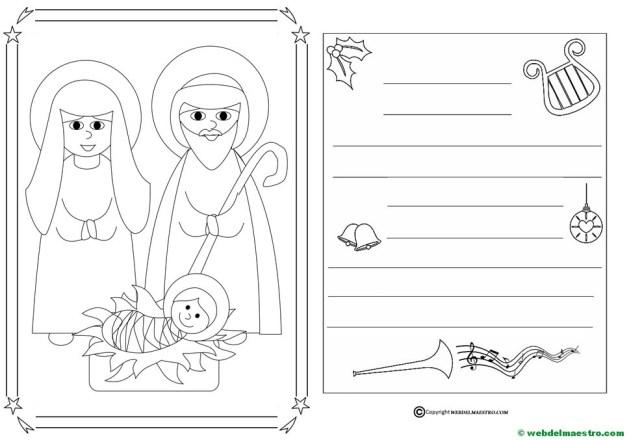 Dibujo de Navidad para colorear-II