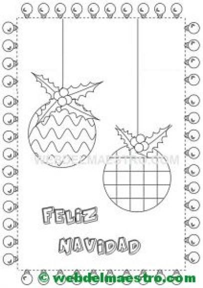 Dibujo de adornos navideños-I