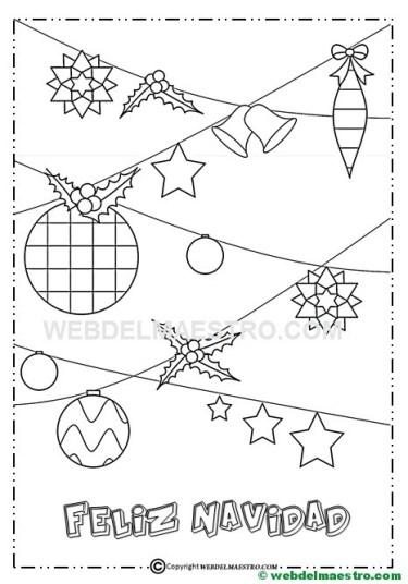 Dibujo de adornos navideños-IV
