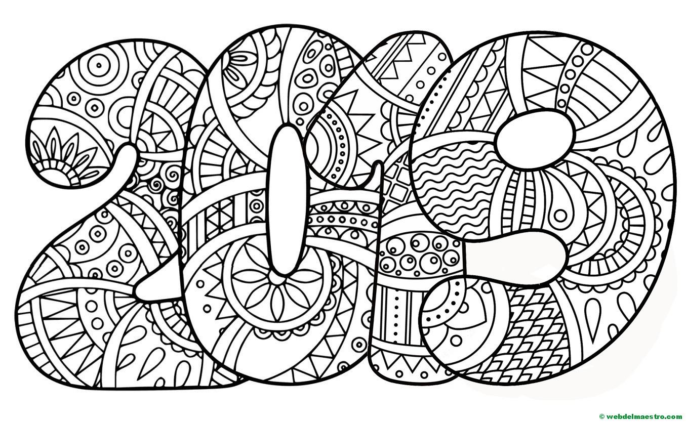 Dibujos Para Colorear Dibujos De 2019 Web Del Maestro