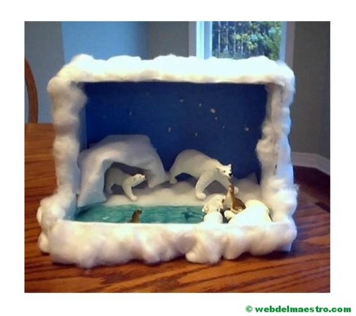Diorama - animales de la zona polar