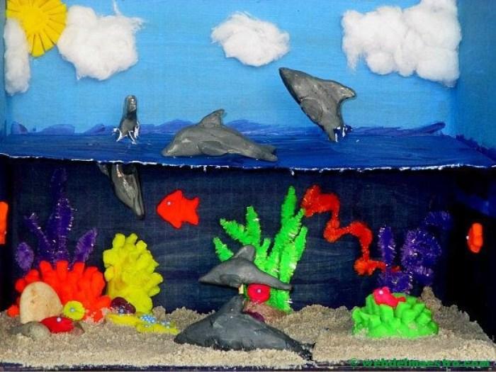 Diorama - animales del mar
