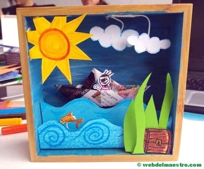 Diorama del mar-