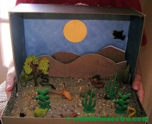 Diorama sobre el desierto