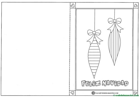 Postal con adornos navideños-III