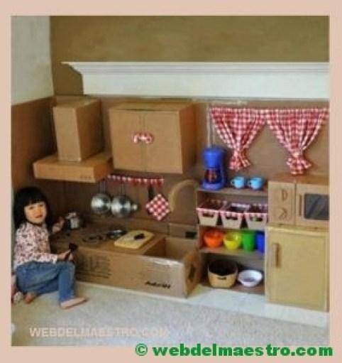 cocina de cartón