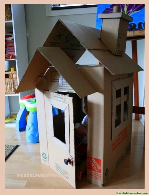 como hacer una casa de carton