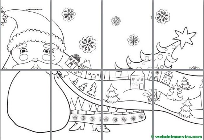 dibujo para colorear de Santa Claus-tamaño poster