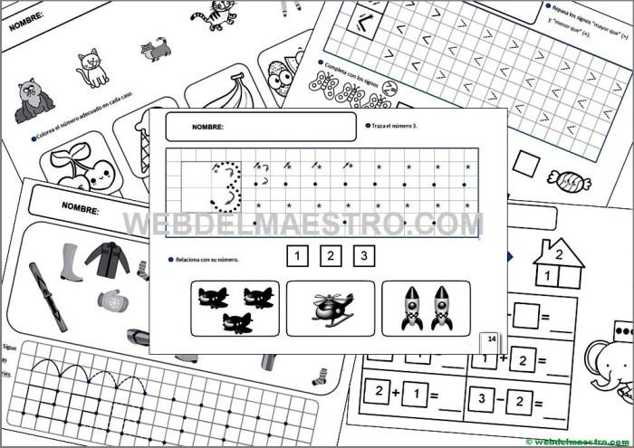 Fichas de infantil para imprimir-