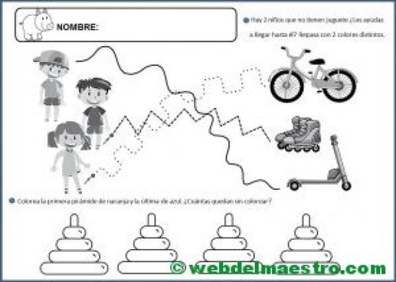 Fichas para niños de 5 años-