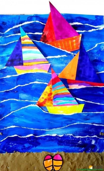 collage con papel rasgado-III