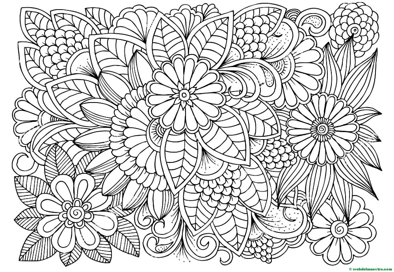 Dibujo De Flores Para Colorear 3 Web Del Maestro