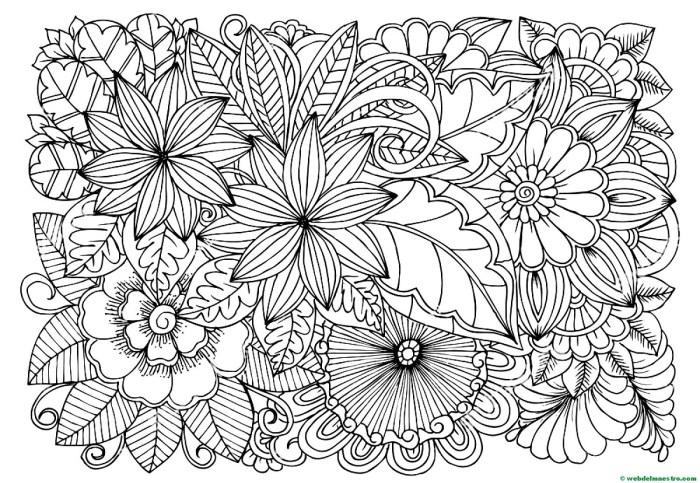 Dibujo de flores para colorear 5