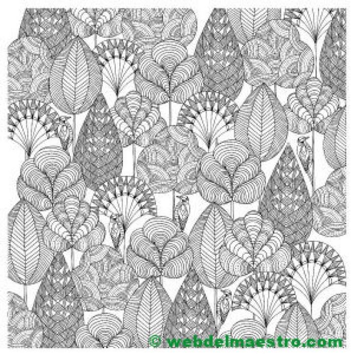 dibujo de hojas para colorear-
