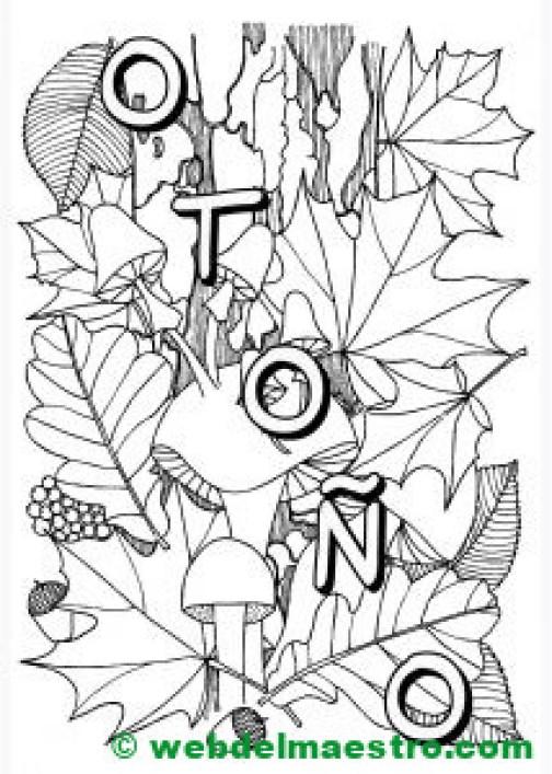 dibujo de otoño-