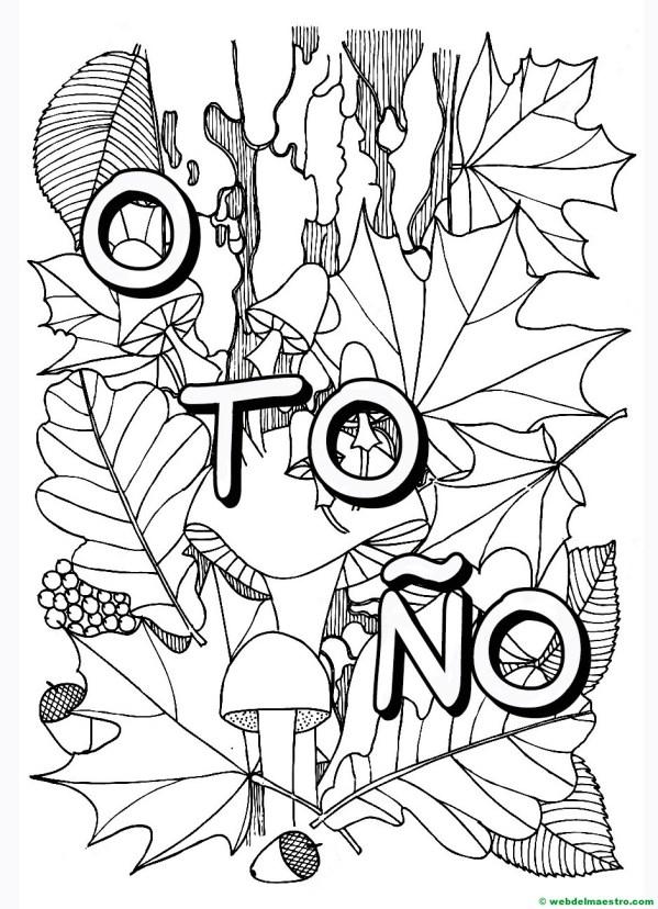 dibujo de otoño