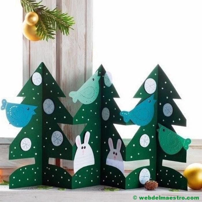 árboles de navidad de cartulina