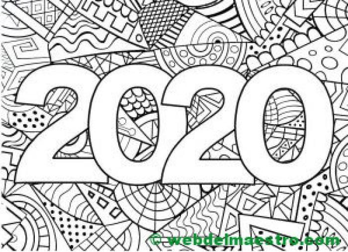 15. Dibujo para colorear de 2020