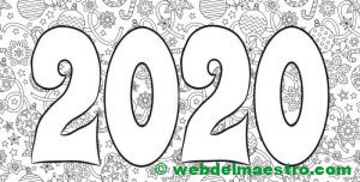 18. Dibujo para colorear de 2020-