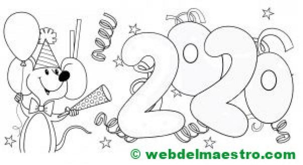 5. Dibujo de 2020 para niños