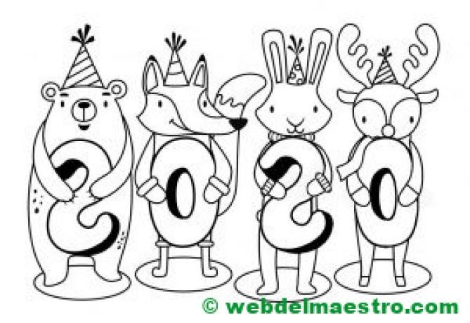 8. Dibujo de 2020 infantil