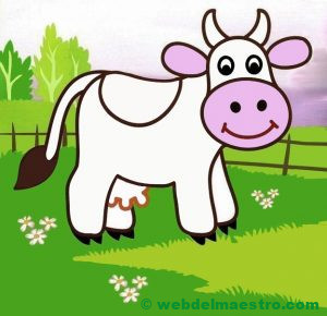 Dibujo de vaca para niños