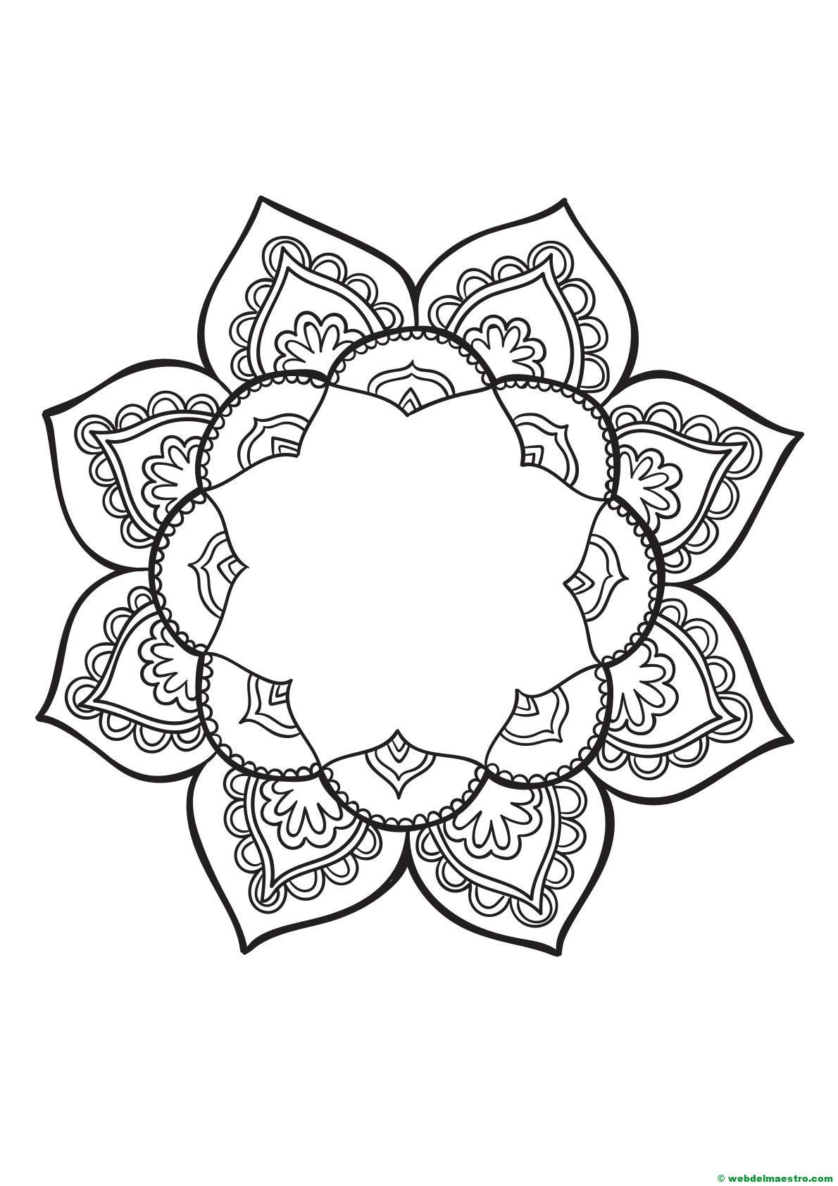 Mandala para colorear - Web del maestro